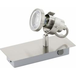 WL/1 GU10-LED NICKEL-MATT TUKON 3 EGLO 94144, spot nástenný