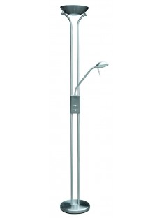 Rábalux 4075 Beta, 2-ram. stojacia lampa, saténová chrómová