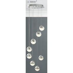 Searchlight 5848-8CC Marbles, LED Závesné svietidlo