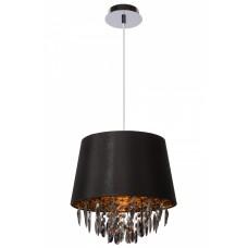 Lucide DOLTI Pendant E27 D30 H33cm Acryl/Black- 78368/30/30