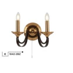 Searchlight 1842-2BZ BELFRY, Nástenné svietidlo