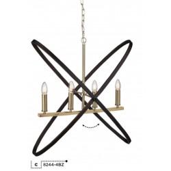Searchlight 8244-4BZ HOOPLA, Závesné svietidlo