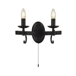 Searchlight 8902-2BK Cartwheel III, nástenné svietidlo