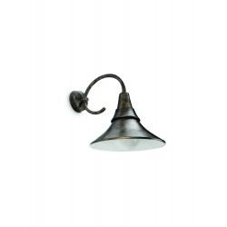 Massive-Philips 17258/42/16 Fowl wall lantern BlackBrush 1x20W nástenné svietidlo
