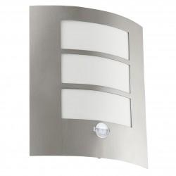 Eglo 88142 CL/1 stainless-steel w. CITY Nástenné svietidlo so senzorom
