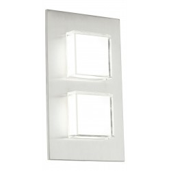 Eglo 93365 outdoor-LED-wall-lamp 2-light à 2,5W, stainless-steel