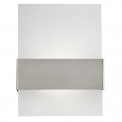 Eglo 93438 AL-LED-WL/ 2-light à 2,5W, stainless-steel/satinated glass NADELA
