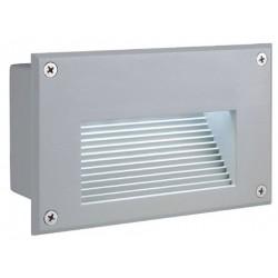 Schrack Technik LI229702  BRICK LED Downunder nástenné, strieborné, teplá biela LED