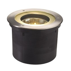 Schrack Technik  LI227090 ADJUST ROUND QRB, žiarič vstavaný do zeme s nerez. kruhom