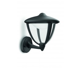 Massive-Philips Robin wall lantern black 1x4.5W 230V- 15470/30/16 nástenné svietidlo