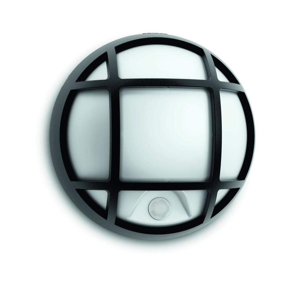 Massive - Philips Eagle wall lantern black 1x3.5W 230V- 17319/30/16 nástenné svietidlo