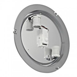Schrack Technik   DRAGAN prisadené,strieborné,E27,2x24W,IP44, Nástenné svietidlo so senzorom