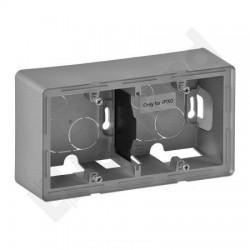 Legrand Valena Life - Zdvojená krabica na povrch, hliník - 754212