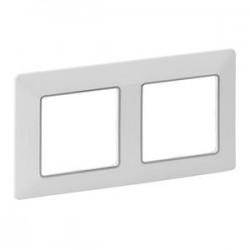 Legrand Valena Life - Dvojnásobný rámik, biela/chróm- 754032