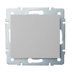 Kanlux LOGI 25184 Jednopólový vypínač 10AX - 250V~, strieborný