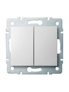 Kanlux LOGI 25066 Združený lustrový vypínač 10AX - 250V~ , biela