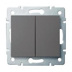 Kanlux LOGI 25244 Združený lustrový vypínač 10AX - 250V~, grafit