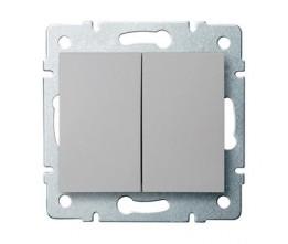 Kanlux LOGI 25185 Združený lustrový vypínač 10AX - 250V~, strieborný