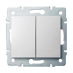 Kanlux LOGI 25069 Dvojité tlačítko 10AX - 250V~,biely