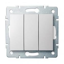 Kanlux LOGI 25076 Trojitý vypínač 10AX - 250V~,biely