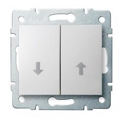 Kanlux LOGI 25099 Žalúziové tlačítko 10AX - 250V~,biely