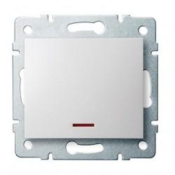 Kanlux LOGI 25078 Jednopólový vypínač s LED 10AX - 250V~,biely