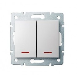 Kanlux LOGI 25079 Združený lustrový vypínač s LED 10AX - 250V~,biely