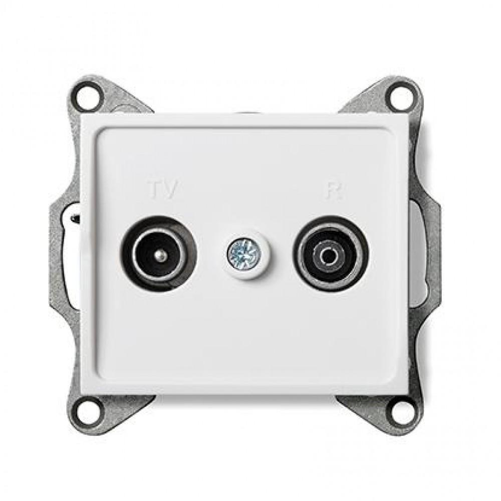 Kanlux LOGI 25100 Zásuvka TV-R priebežná,biely