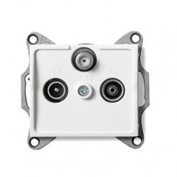 Kanlux LOGI 25103 Zásuvka SAT-TV-R koncová,biely