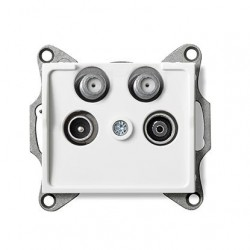 Kanlux LOGI 25105 Zásuvka dvojitá 2x SAT-TV-R koncová