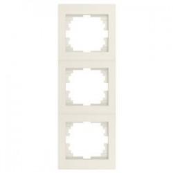 Kanlux LOGI 25182 Trojnásobný vertikálny rámeček,krémový