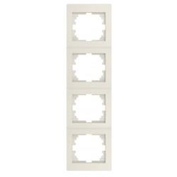 Kanlux LOGI 25183 Štvornásobný vertikálny rámeček,krémový