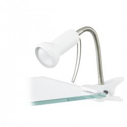 Eglo 81262 KLEMMSPOT/1 FLEXIBEL WS/SILBER FABIO stolná lampa