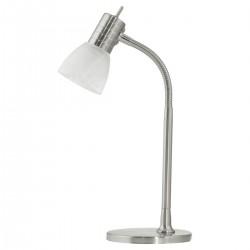 Eglo 86429 TL/1 E14 NICKEL-M/ALABASTER PRINCE 1 stolná lampa