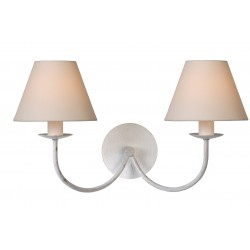 Lucide 31233/02/21 CAMPAGNE Wall Light 2xE14 (Shade 61009/16/38)