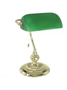 Eglo 90967 TL/1 MS-GLÄNZEND M.GLAS GRÜN BANKER stolná lampa