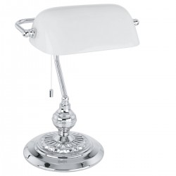 Eglo 90968 TL/1 CHROM M.GLAS WEISS BANKER  stolná lampa