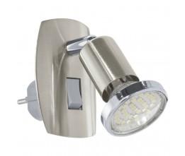 Eglo 92924 STECKDOSENSPOT/1 NICKEL-M/CHROM MINI 4 stolná lámpa
