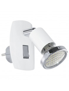 Eglo 92925 STECKDOSENSPOT/1 WEISS/CHROM MINI 4 stolná lámpa