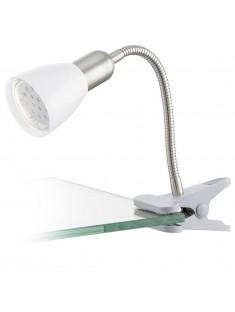 Eglo 92932 KLEMMLEUCHTE/1 NICKEL-M/WEISS DAKAR 3 stolová lampa