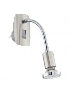 Eglo 92933 STECKDOSENSPOT/1 NICKEL-M/CHROM MINI 4 stolná lampa