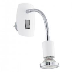 Eglo 92934 STECKDOSENSPOT/1 WEISS/CHROM MINI 4 stolná lámpa