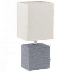 Eglo 93044 TL/1 E14 GRAU/WEISS MATARO stolná lámpa