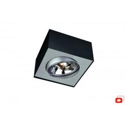 LIRIO 57000/30/LI  BLOQ plate/spiral black 1x50W 12V spot  stropný