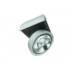 LIRIO 57981/48/16 BONQ plate/spiral aluminium 1x45W spot stropný