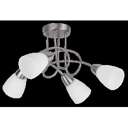 Rábalux 6079 Polla ceiling lamp, 4*E14/40W, satin-chrome