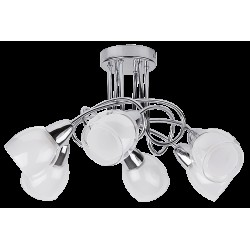 Rábalux 6085 Dave ceiling lamp, 6*E14/40W chrome