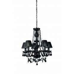 Massive - Philips 41766/30/10  FLAUBO chandelier black 5x60W 230V