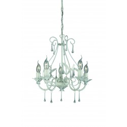 Massive - Philips 41814/31/10  MADISON chandelier white 5x60W 230V