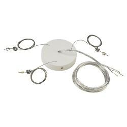Schrack Technik Súprava závesov pre MEDO PRO 60, biele- LI133811